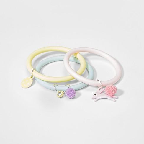 Girls' 3pk Easter Egg Hunt bangle Bracelets - Cat & Jack™ One Size - image 1 of 1