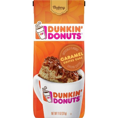 Dunkin' Donuts Caramel Cake Medium Roast Ground Coffee - 11oz