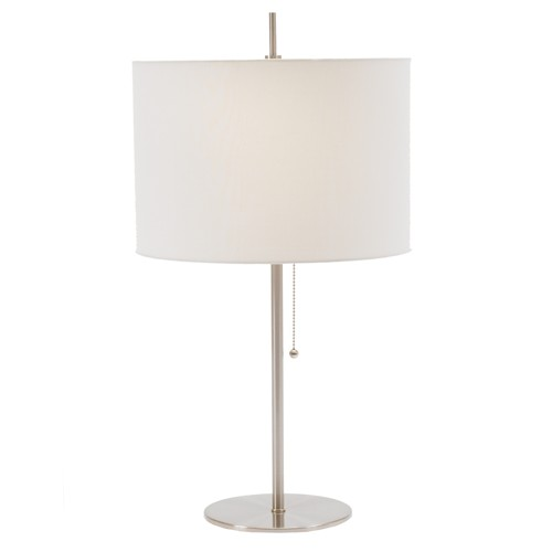 Simplistic Table Lamp - Brushed Steel (Lamp Only)
