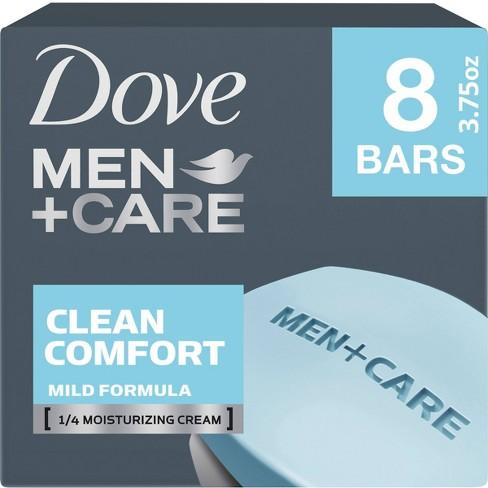 Dove Men+Care Clean Comfort Body & Face Bar Soap - 8pk - 3.75oz each - image 1 of 4
