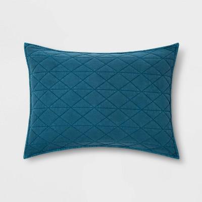Vintage Wash Jersey Pillow Sham Terrific Turquoise - Pillowfort™