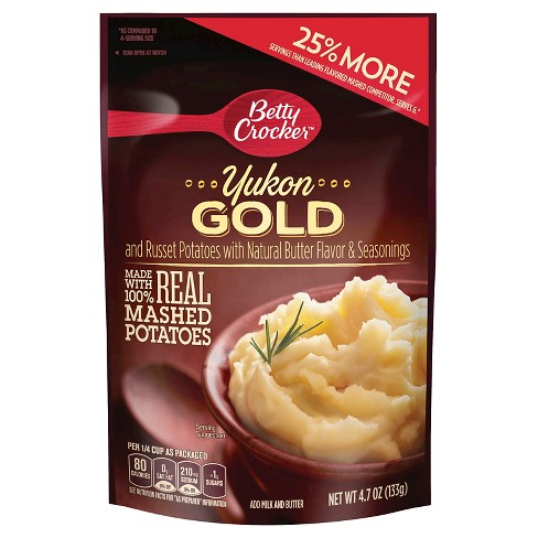 Betty Crocker Mashed Potato Yukon Gold Pouch 4.7 oz - image 1 of 1