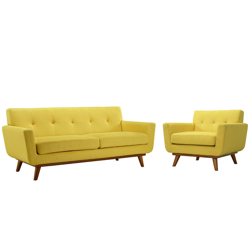 Engage Armchair and Loveseat Set of 2 Sunny - Modway