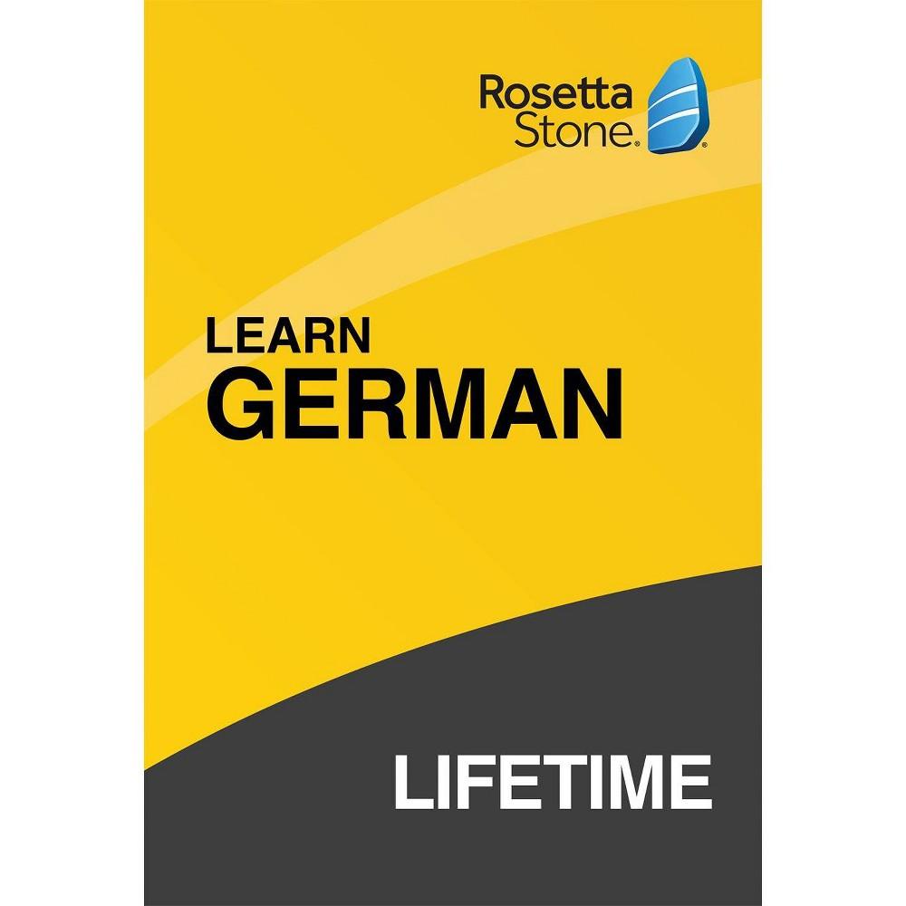Rosetta Stone Lifetime German was $299.0 now $199.0 (33.0% off)