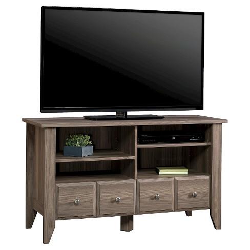 Shoal Creek Panel Tv Stand With Adjustable Shelves Diamond Ash