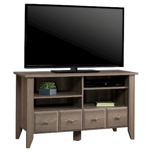 Shoal Creek Panel Tv Stand With Adjustable Shelves Diamond Ash