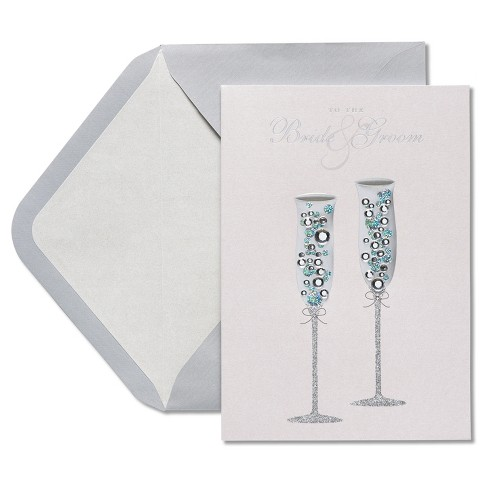 Papyrus Champagne Wedding Congratulations Card - image 1 of 4