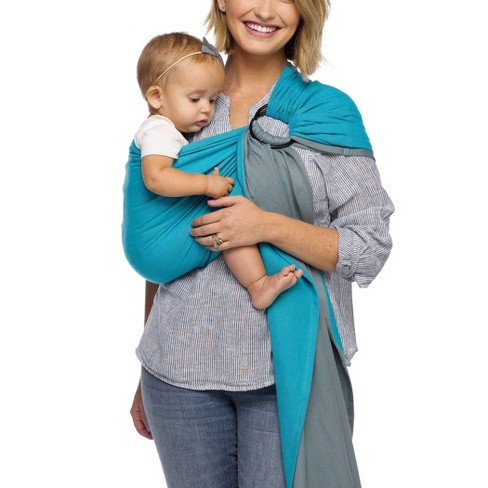 f8d52e57e43 Moby Wrap Ring Sling Ocean Twist Baby Carrier - Teal   Target