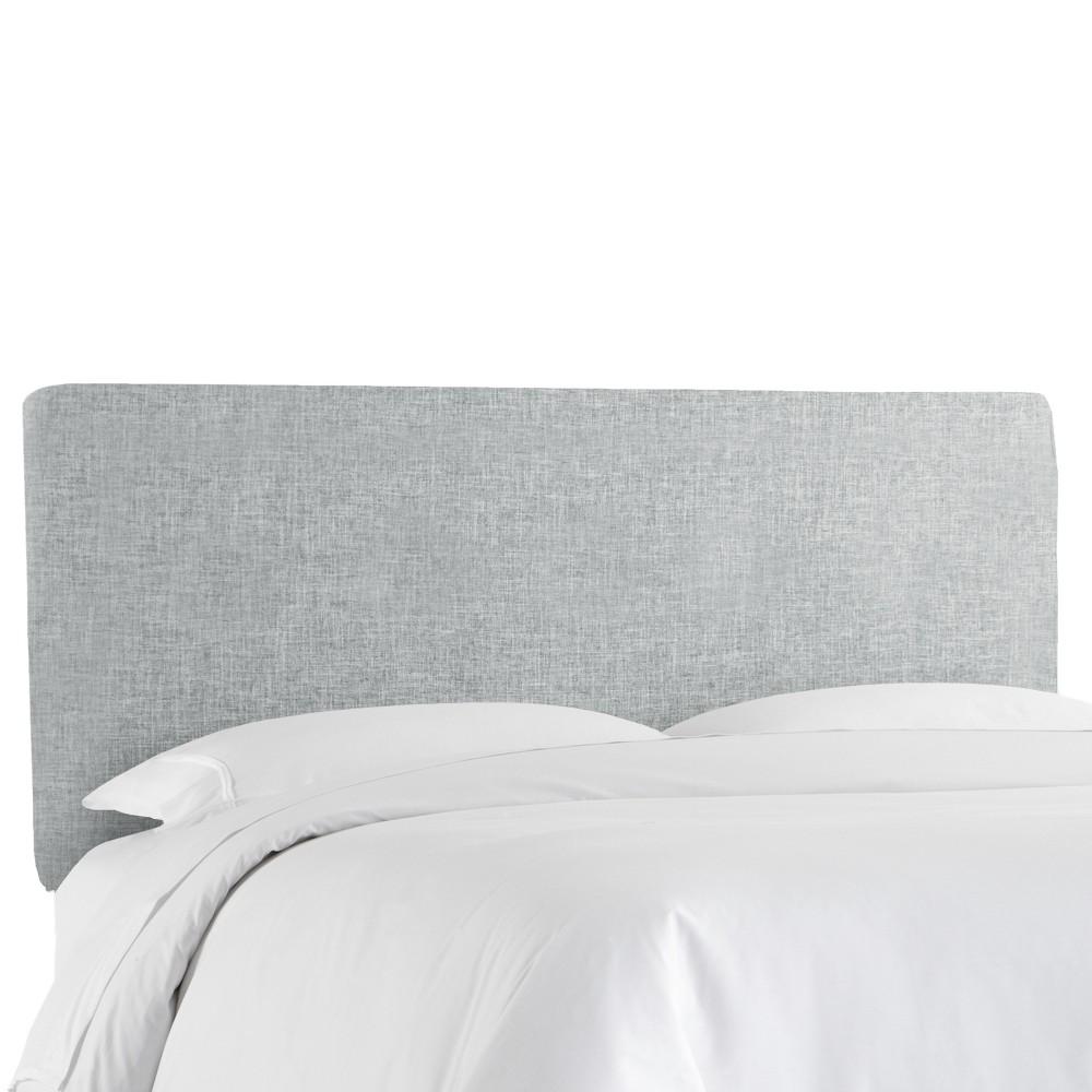Queen Olivia Upholstered Headboard Pumice Gray Linen Skyline Furniture