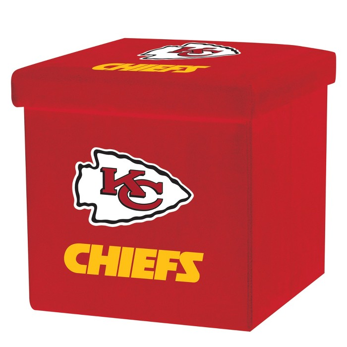 NFL Franklin Sports Kansas City Chiefs Storage Ottoman with Detachable Lid - image 1 of 6