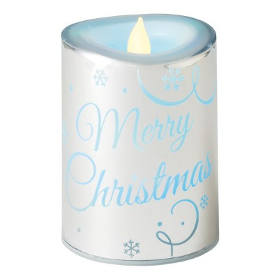 "Diva At Home 4.5"" LED Lighted ""Merry Christmas"" Flameless Color Changing Candle"