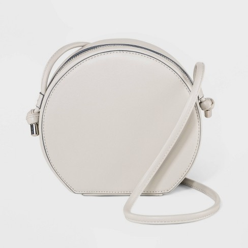 Round Crossbody Bag - A New Day™ Gray - image 1 of 2