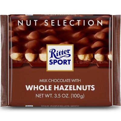 Ritter Sport Milk Chocolate with Whole Hazelnuts Bar - 3.5oz