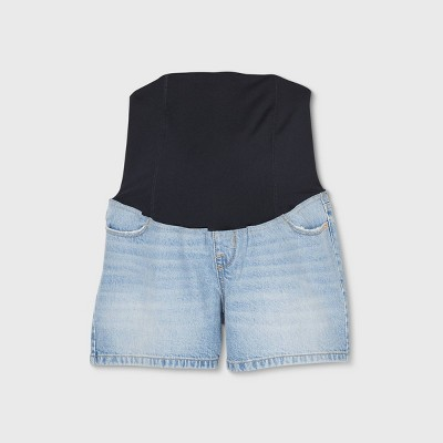 Crossover Panel Midi Maternity Jean Shorts - Isabel Maternity by Ingrid & Isabel™