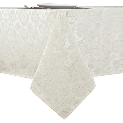 Kate Aurora Regency Collection Raised Jacquard Damask Fabric Tablecloth