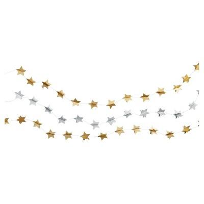 3ct Gold & Silver Star Garland - Spritz™