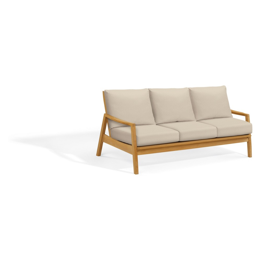 Siena Natural Shorea Patio Sofa Camel - Oxford Garden