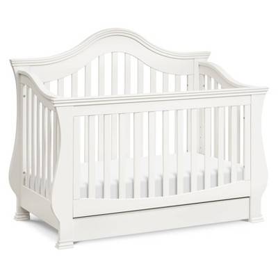Million Dollar Baby Classic Ashbury 4-in-1 Convertible Crib with Bed - Warm White