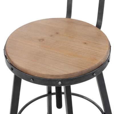 Fenix Wooden Barstool Antique - Christopher Knight Home : Target