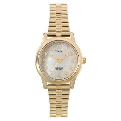Women's Timex Expansion Band Watch - Gold/Mother of Pearl T2M827JT