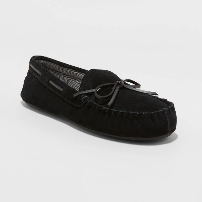 Men's Topher Moccasin Slippers - Goodfellow & Co™ Black 10