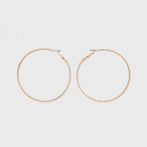 Textured Hoop Earrings - A New Day™ - image 1 of 3