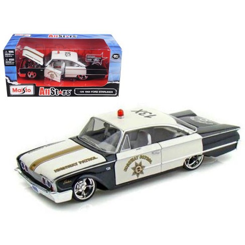 """1960 Ford Starliner Highway Patrol All Stars"""" 1/26 Diecast Model Car by Maisto"""" - image 1 of 1"""
