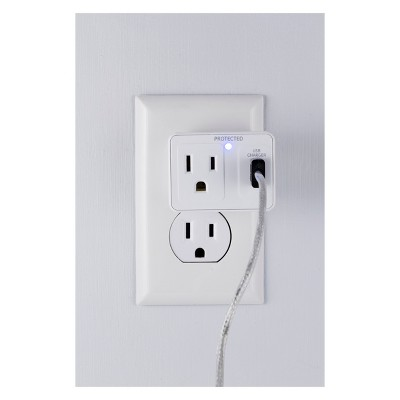 GE 1 - Outlet Surge Protector Tap with USB Charging, 14521