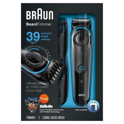 Braun Bt3040 Mens Rechargeable Electric Beard Trimmer Hair Clipper