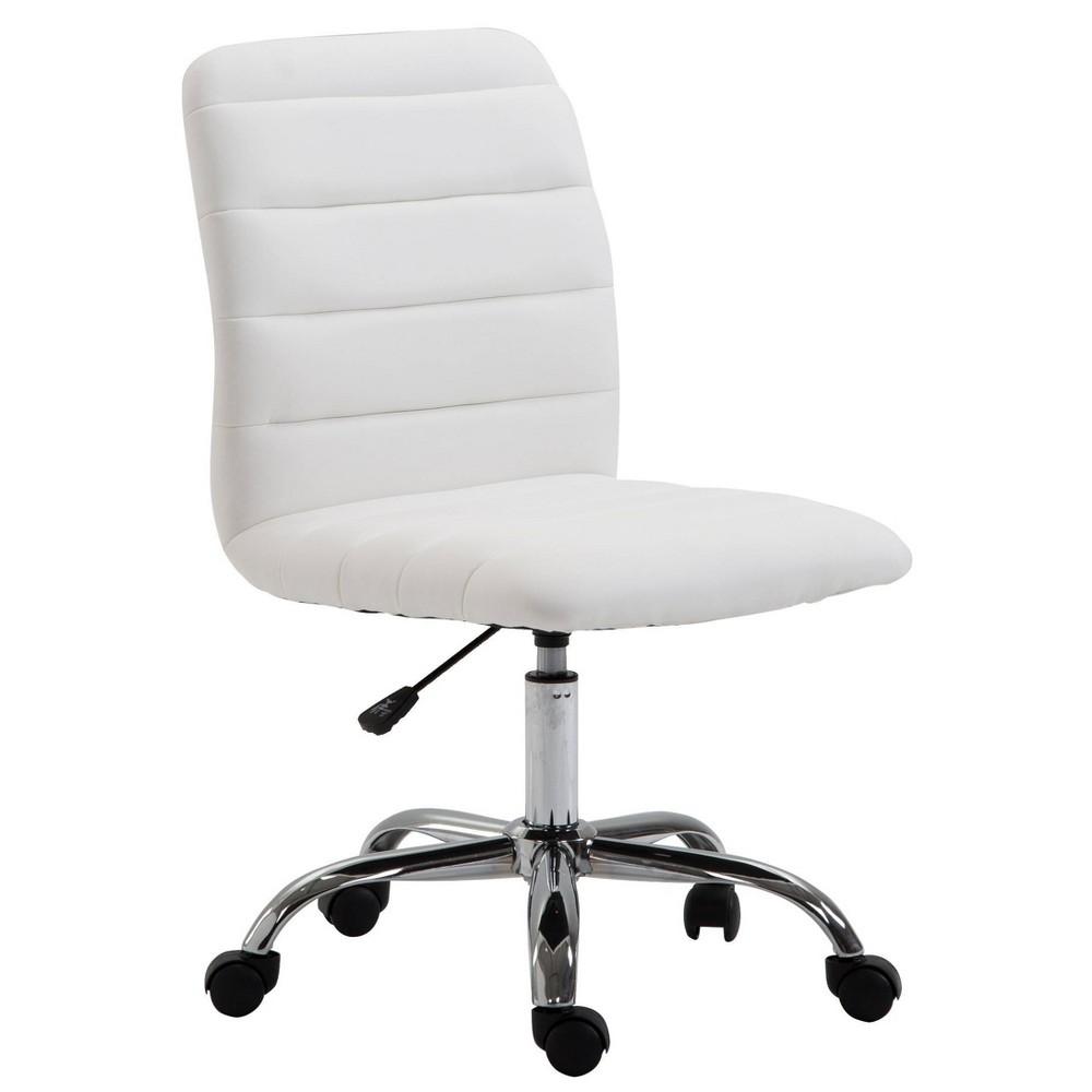 Louis Task Chair White Poly 38 Bark