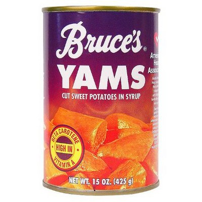 Bruce's Yams Cut Sweet Potatoes in Syrup - 15oz