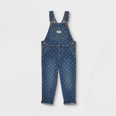 OshKosh B'gosh Toddler Girls' Polka Dot Overalls - Blue