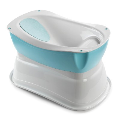Summer Right Height Baby Bath Tub - Blue/White