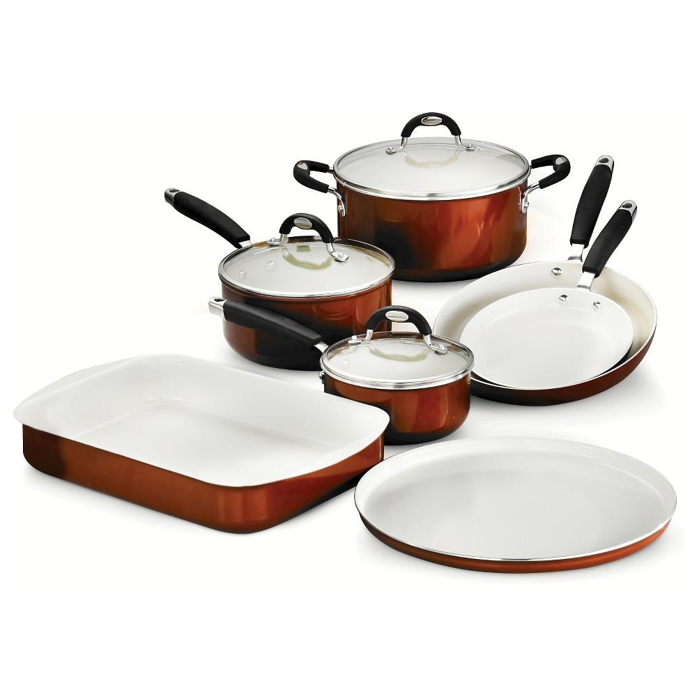 Tramontina Style Ceramica Metallic Copper (Brown) 10-Piece Cookware/Bakeware Set