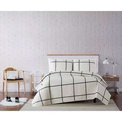 Truly Soft Everyday Kurt Windowpane Quilt Set