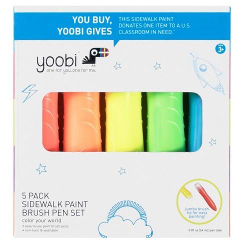 Yoobi Sidewalk Paint Brush Pen Set - 5pc - image 1 of 2