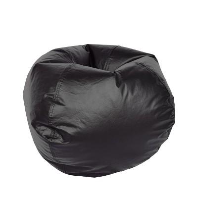 Medium Vinyl Bean Bag Chair - Matte Black - Ace Bayou