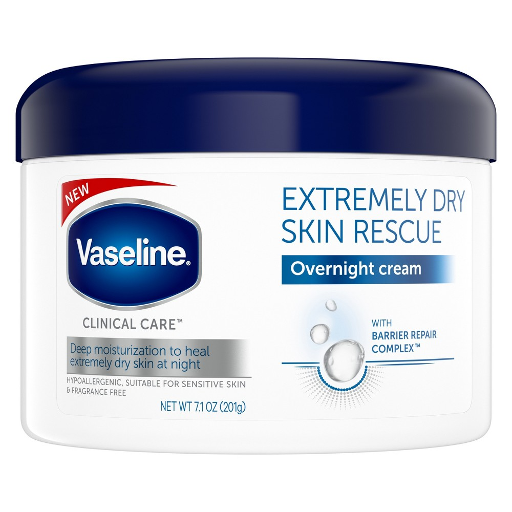 Vaseline Clinical Care Extremely Dry Skin Rescue Overnight Cream - 7.1oz