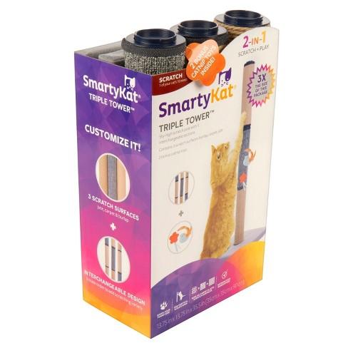SmartyKat Triple Tower 3 Segment Cat Scratcher Post and Bonus Toy - image 1 of 4