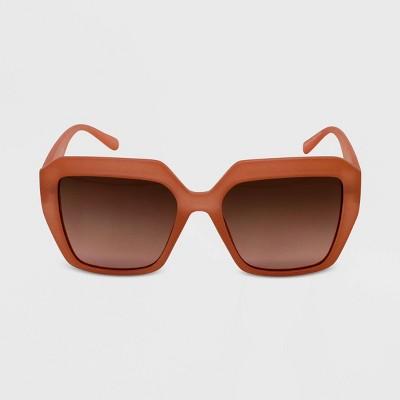 Women's Plastic Oversized Square Sunglasses - Wild Fable™ Pink