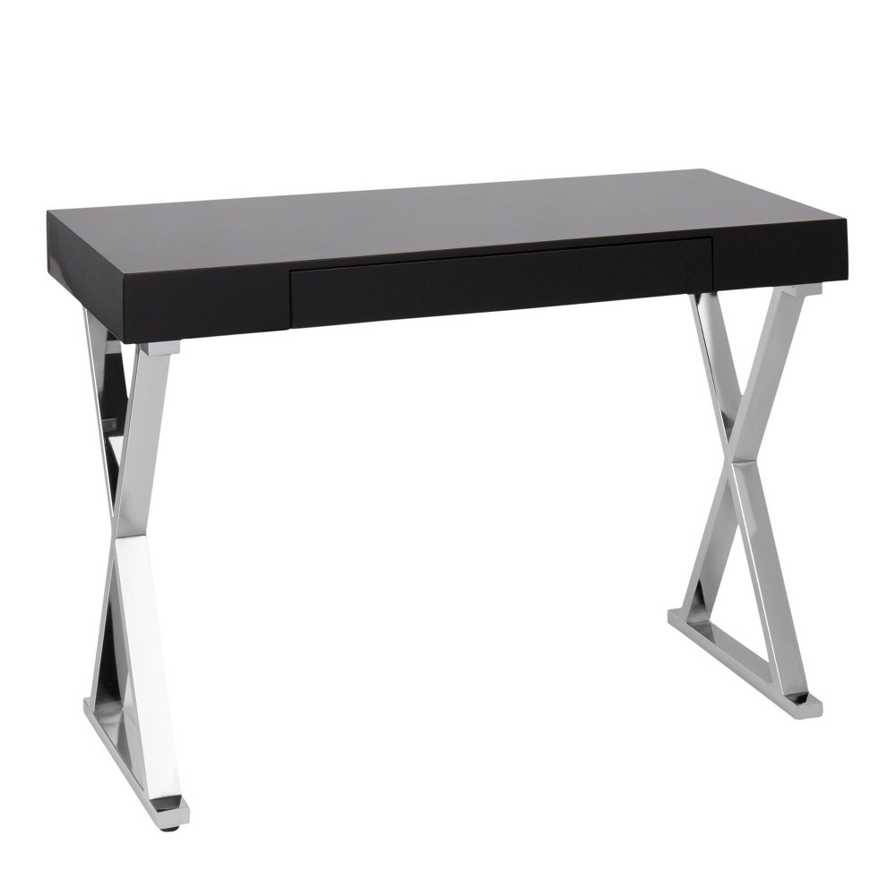 Luster Contemporary Console Table Black - LumiSource