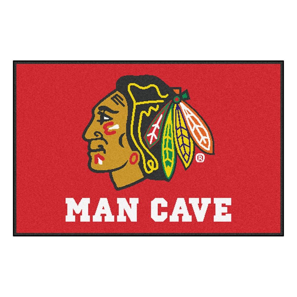 NHL Chicago Blackhawks Man Cave Starter Rug 19
