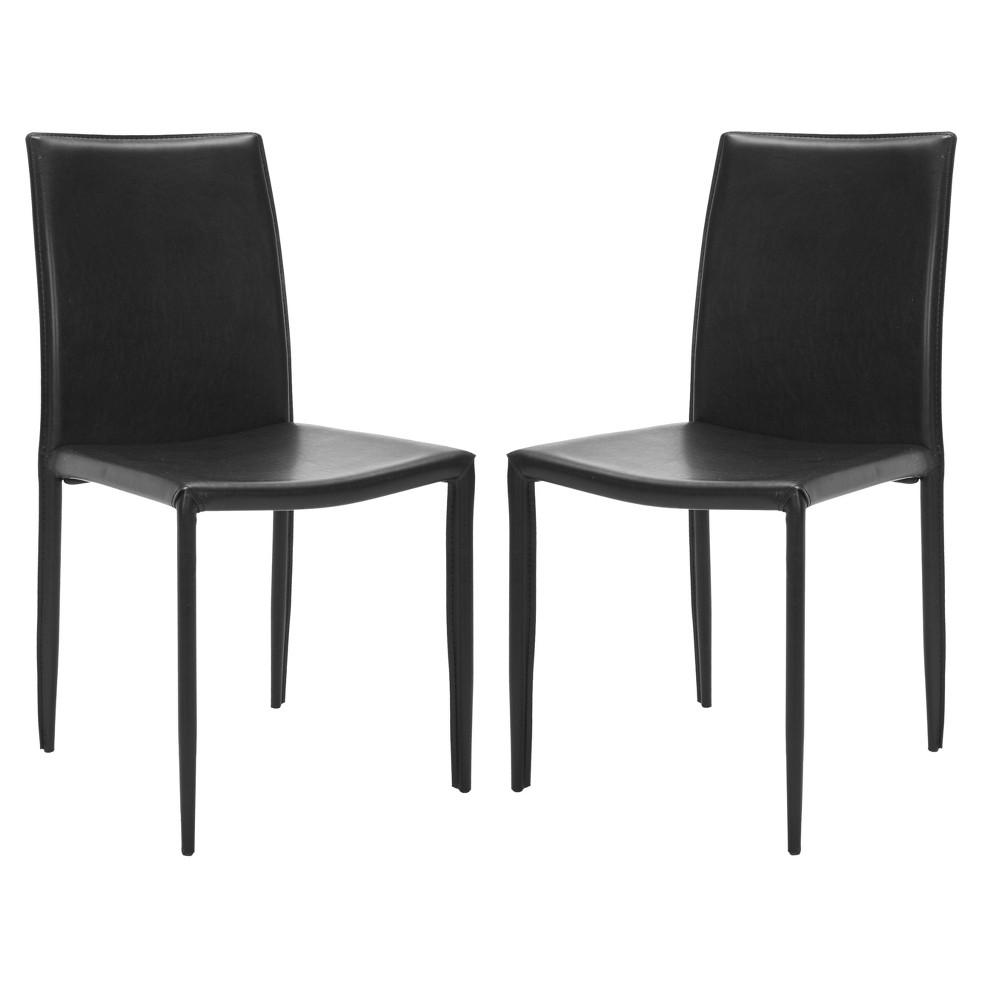 Geneva Side Chair Metal/Black (Set of 2) - Safavieh