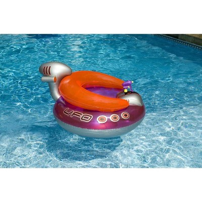 Swimline 9078 Inflatable Ufo Lounge Chair Swimming Pool Float With Squirt Gun Target