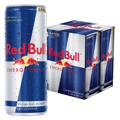 Red Bull Energy Drink - 4pk/8.4 fl oz Cans