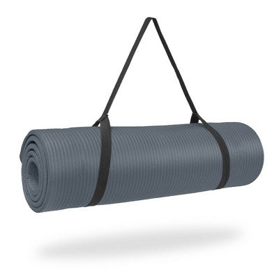 Pure Fitness Extra Thick High Density Exercise & Yoga Mat - Charcoal (12mm)
