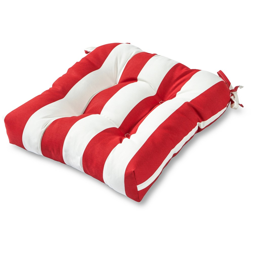 Image of Greendale Home Fashions 20 Outdoor Chair Cushion - Cabana Red