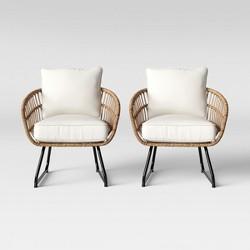 Southport 2pk Patio Club Chair Linen - Opalhouse™
