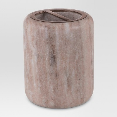 Toothbrush Holder Beige Marble - Threshold™