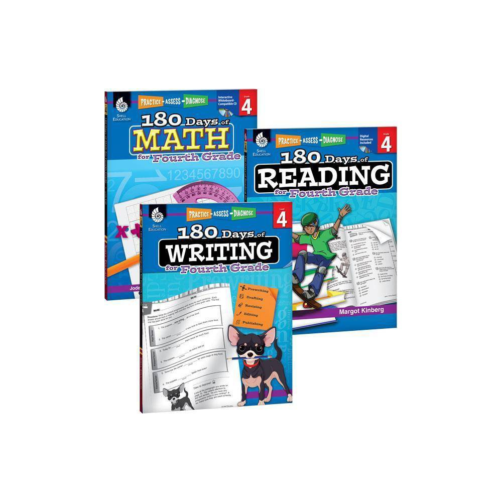 180 Days Of Reading Writing And Math For Fourth Grade 3 Book Set 180 Days Of Practice By Margot Kinberg Kristin Kemp Jodene Smith